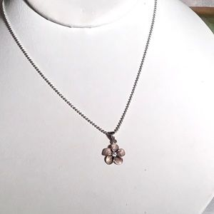🌺Sterling Silver Plumeria Necklace